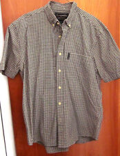 ABERCROMBIE & FITCH checkered polo shirt medium dress-shirt green & white plaid