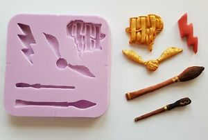 HARRY POTTER INSPIRED 002 SILICONE MOULD FOR CAKE TOPPERS CHOCOLATE, CLAY ETC