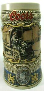 Coors Beer Stein Vintage 1989 Beer Truck 1910 Adolph Coors Co, Golden, Colorado