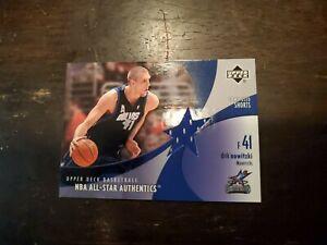 2002-03 Upper Deck All-Star Authentics Shorts Mavericks Card #DNAS Dirk Nowitzki