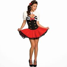 New Womens Secret Wishes Naval Sailor Pin Up Girl Costume Small 2-6