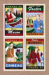 MASON, MUNDAY, COMEAU, HARRY FOSTER Canada 1998 # 1753a MNH Block of 4