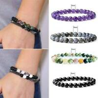 Fashion Chakra Yoga Beads Volcanic Stone Bracelet Unisex Natural Bead Jewelry