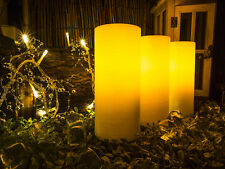 Lyra Candle, Flameless LED Ivory Glitter Candles with Remote, 6-inch Set of 3