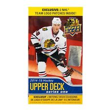 2014/15 Upper Deck Series 1 Hockey 12-Pack Box (PLUS 2 Team Logo Patches!) rare!