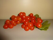 Vintage Grapes Rubber Orange Cluster Hong Kong Tag