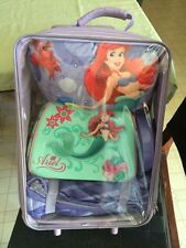 Disney Ariel Mermaid Overnight Luggage Suitcase Sleeping Bag Purse Light Pillow