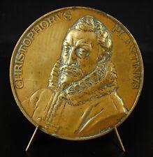 Médaille Christophe Plantin Relieur architypographe 1920 J DUPON Belgique Anvers