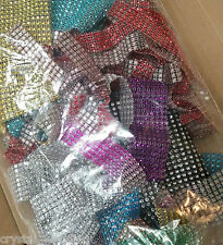 DIAMANTE RIBBON TRIM CRAFTING BAGS OFFCUTS LARGE QTY MIXED BAG