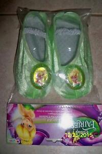 GIRLS DISNEY TINKER BELL BALLET SLIPPERS SHOE COSTUME DG18292