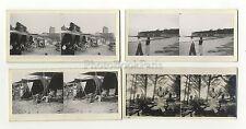 Fouras Charente-Maritime 4 Photos amateur stéréo Vintage argentique 1935