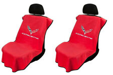 Pair 2 2014-2018 Chevrolet C7 Corvette Red Towel Protector Seat Armour Covers
