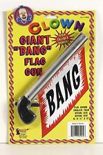 Clown Bang Gun Gun with Flag Gag Clown Costume Accessory