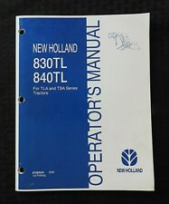 Genuine New Holland Tla Tsa Tractor 830tl 840tl Loader Operators Manual Nice