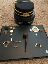 Masonic  Lodge Hat And Box With Extras