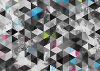 A1 | Geometric Pattern Poster Print 60 x 90cm 180gsm Colourful Wall Art #14455
