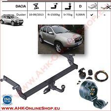 Gancio di traino fisso Dacia Duster 2010-2013 + kit elettrico 7-poli