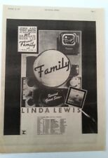 FAMILY 'Bandstand' tour + Linda Lewis 1972 Poster size Press ADVERT 16x12 inches