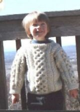 Child's Aran Sweater Pattern by Grandma on the Mountain