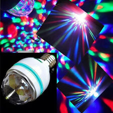 3W E27 RGB Crystal Ball Rotating LED Stage Light Bulbs Disco Party Bulb Lamp EF