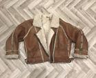 Rare Vintage Genuine Industria Argentina Sheep Skin Leather Womens Jacket