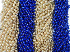 48 Blue Gold Mardi Gras Beads Rams Tailgate Football Superbowl Party Favors