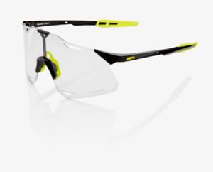100% HYPERCRAFT Gloss Black Cycling Sunglasses, Photochromic Lens