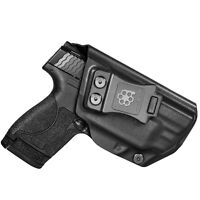 Amberide IWB KYDEX Holster Fit: S&W M&P Shield 9mm/.40 with Integrated CT Laser