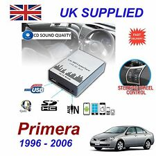 For Nissan PRIMERA MP3 SD USB CD AUX Input Audio Adapter CD Changer Module