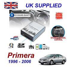 Nissan Primera Mp3 Sd Usb Cd Aux entrada Adaptador De Audio Digital cambiador de CD módulo
