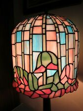 """Tiffany Style Stained Glass Flower 11"""" Shade Table Lamp 25"""" Tall"""