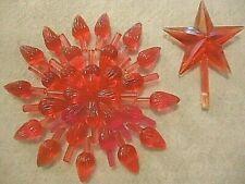 Extra Large Twist Bulbs Vintage Ceramic Christmas Tree Lights 50 Pink + Star