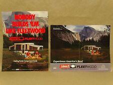 Vtg 1995 Coleman Pop up Camper Brochure Guide Lot Fleetwood Yosemite Specs