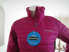 COLUMBIA womens powder pillow hybrid ski jacket Hot Pink WaterResistant XS $125