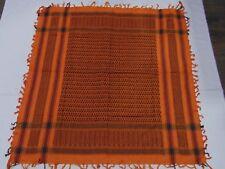 Arab Shemagh Kafiyah Head Scarf, Square Scarf  black orange unisex scarf