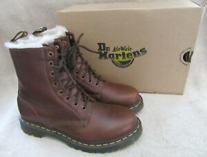DR MARTENS 1460 Serena Butterscotch Orleans Leather Boots Shoes US 7 EUR 38 NEW