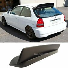 For 96-00 Honda Civic 3Dr HB Painted Matte Black Trunk Spoiler BYS Style  - ABS