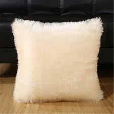 Hot Home Decorative Decoration Plush Square Pillow Case Fur Fluffy Cushion Cover