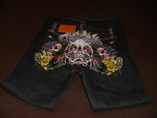 NWT 10 Skulls Spider Baby CHRISTIAN AUDIGIER $169 Boys Dark Denim Blue Jeans
