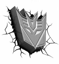Transformers DECEPTICON 3D Deco WALL LIGHT Children's Kid's Bedroom Night Light