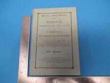 Vintage 1887 Booklet Horace Tragedie En Cino Actes P.Corneille New Edition S1998