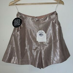 Sass & Bide THE OASIS Shorts BNWT RRP $350 Size 38 8 Pink Sparkle