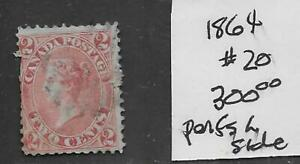 Canada #20 Stamp from Quality Old Antique Album 1864