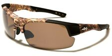 Sunglasses CAMOUFLAGE Mens Semi Rimless 400 UV Hunting, Outdoor Driving XLoop