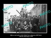 OLD POSTCARD SIZE PHOTO POLAND MILITARY POLISH NAVY SUBMARINE ORP SOKOL c1940