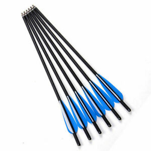 6 Pcs 8.8mm Crossbow Arrow Mixed Carbon Interchangeable Frosted Rod 17 inch