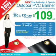 Custom Banner 3m x 1.3m Outdoor UV & Waterproofing PVC Vinyl Sign