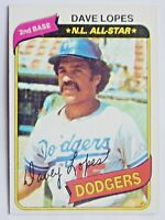 Dave Lopes #560 Topps 1980 Baseball Card (Los Angeles Dodgers) VG