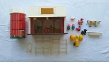 Vintage Fisher Price Little People Play Family Farm Barn Silo #915 1967 1968