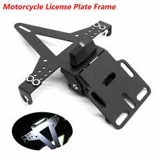 Motorcycle Fender License Plate Holder Bracket Eliminator With LED Taillight